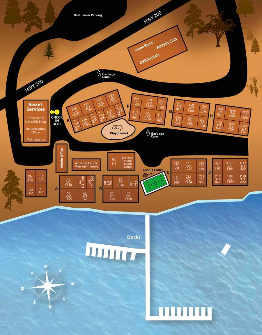 Pend Orielle Resort Map